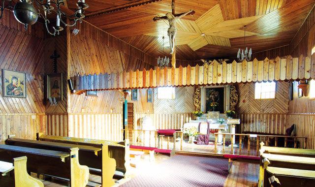 koscil drewniany